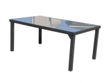Steel Garden Table Vaduz 180x105cm - glass