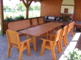Garden Set Drevoland-Lux 1 (Table+Bench+2Chairs)