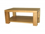 Conference table Drevoland-Ideal 110x60cm, with shelf (oak)