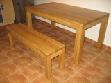 Dining table Drevoland-Excel 160x90cm, tl.40mm (oak)