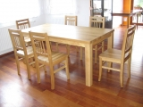 Classic dining table Drevoland 190x80cm, tl.40mm (oak)