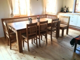 Dining oak table 200x90cm, tl.54mm (old look)