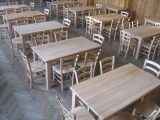 Dining Set Drevoland-Gastro 125cm, tl.42mm (table+4chaires)