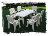 Garden Set Drevoland Maxi-Lux, tl.42mm (Table + 6 Chairs)