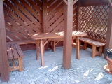 Garden set Drevoland - Max 2m+2chairs, tl.45mm  (without back)