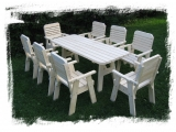 Garden Set Drevoland Maxi-Lux 2,2m, tl.42mm (Table + 8 Chairs)