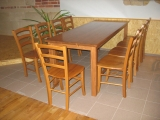 Dining table Drevoland-Gastro 125x80cm, tl.27mm