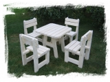 Garden Set Drevoland - Max,tl.45mm (Table + 4 Chairs)