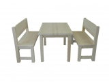 Dining set Drevoland-Massive 1,5 (table+2benches)