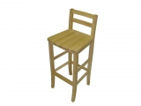 Bar chair Drevoland-Maya (oak)