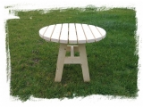Round Garden Table Drevoland-Max 1,0m, tl.45mm
