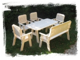 Garden Set Drevoland-Lux 3 (Table+1 Bench+4 Chairs)