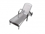 Metal Garden Deck-Chair U700
