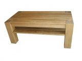 Conference table Drevoland-Gastro 120x60cm, with shelf (oak)