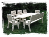 Garden Set Drevoland Maxi-Lux 2,0m, tl.42mm(Table +1 Bench+5 ...