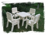 Garden Set Drevoland Maxi-Lux, tl.42mm (Table + 4 Chairs)