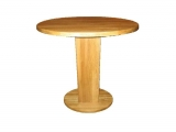 Round Dining table Drevoland-Sphere 90cm, tl.40mm (oak)